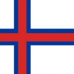 Færøerne flag, hvid blå rød