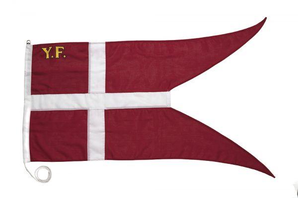 yachtflag, yf-flag, maritime flag, sejlerflag, dannebrog med yf