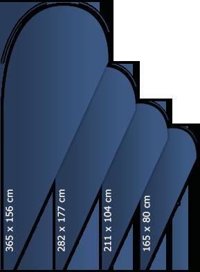 Beachflag drop shape
