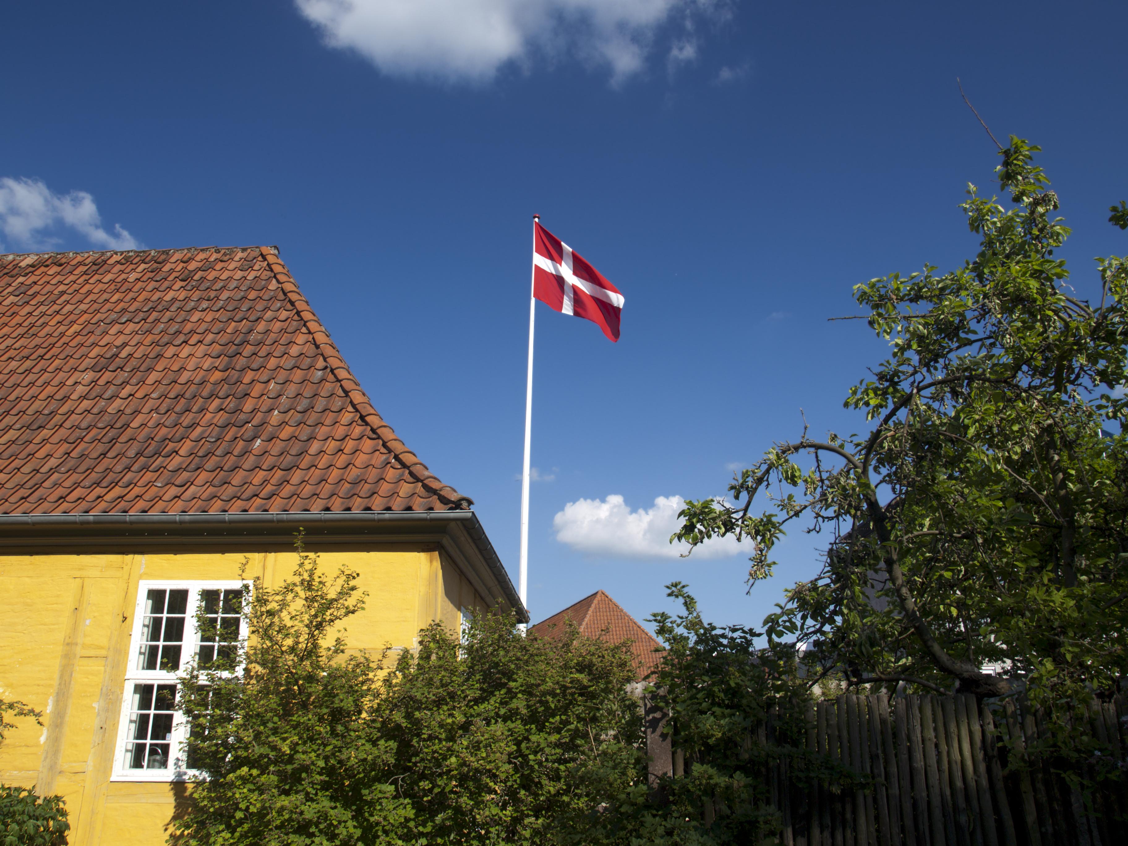 Dannebrog, dansk flag, flagning, Danmark, dansk
